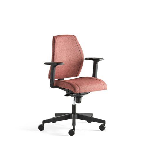 Krzesło biurowe Lancaster, niskie oparcie, śliwkowy AJ Produkty